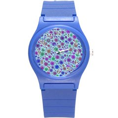 Lovely Shapes 3b Round Plastic Sport Watch (s) by MoreColorsinLife