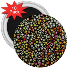 Lovely Shapes 4b 3  Magnets (10 Pack)  by MoreColorsinLife