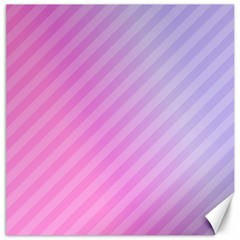 Diagonal Pink Stripe Gradient Canvas 16  X 16   by Nexatart