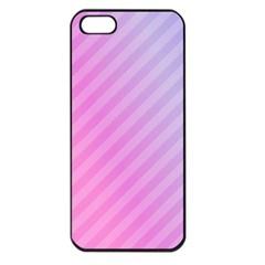 Diagonal Pink Stripe Gradient Apple Iphone 5 Seamless Case (black) by Nexatart