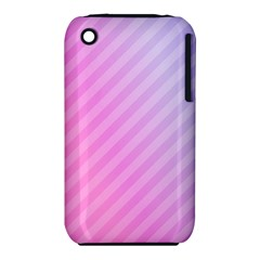 Diagonal Pink Stripe Gradient Iphone 3s/3gs by Nexatart