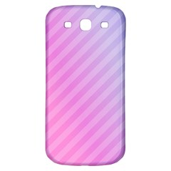 Diagonal Pink Stripe Gradient Samsung Galaxy S3 S Iii Classic Hardshell Back Case by Nexatart