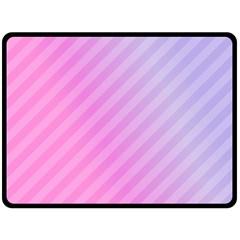 Diagonal Pink Stripe Gradient Double Sided Fleece Blanket (large)  by Nexatart