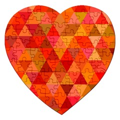 Red Hot Triangle Tile Mosaic Jigsaw Puzzle (heart) by Nexatart
