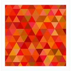 Red Hot Triangle Tile Mosaic Medium Glasses Cloth (2 Side)