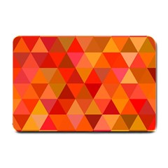 Red Hot Triangle Tile Mosaic Small Doormat  by Nexatart