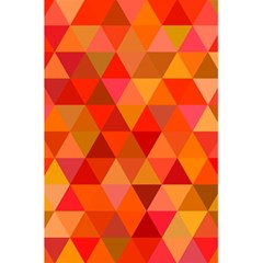 Red Hot Triangle Tile Mosaic 5 5  X 8 5  Notebooks by Nexatart