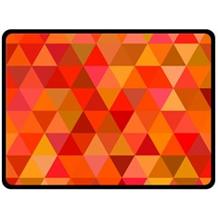 Red Hot Triangle Tile Mosaic Fleece Blanket (large)  by Nexatart