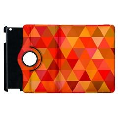 Red Hot Triangle Tile Mosaic Apple Ipad 3/4 Flip 360 Case by Nexatart