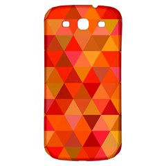 Red Hot Triangle Tile Mosaic Samsung Galaxy S3 S Iii Classic Hardshell Back Case