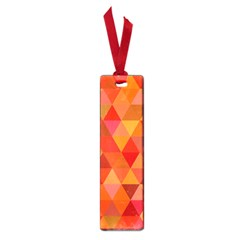 Red Hot Triangle Tile Mosaic Small Book Marks by Nexatart