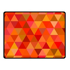 Red Hot Triangle Tile Mosaic Double Sided Fleece Blanket (small)  by Nexatart