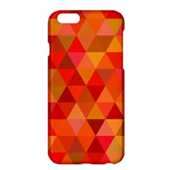 Red Hot Triangle Tile Mosaic Apple Iphone 6 Plus/6s Plus Hardshell Case by Nexatart