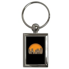 City Buildings Couple Man Women Key Chains (rectangle)  by Nexatart