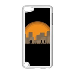 City Buildings Couple Man Women Apple Ipod Touch 5 Case (white) by Nexatart