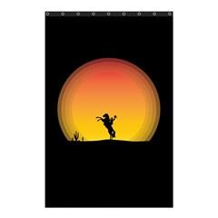Horse Cowboy Sunset Western Riding Shower Curtain 48  X 72  (small)  by Nexatart