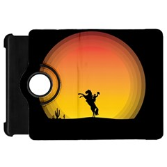 Horse Cowboy Sunset Western Riding Kindle Fire Hd 7  by Nexatart