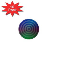 Blue Green Abstract Background 1  Mini Buttons (10 Pack)  by Nexatart