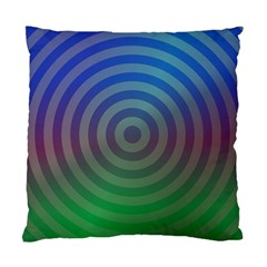 Blue Green Abstract Background Standard Cushion Case (one Side) by Nexatart