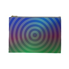 Blue Green Abstract Background Cosmetic Bag (large)  by Nexatart