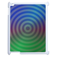 Blue Green Abstract Background Apple Ipad 2 Case (white) by Nexatart