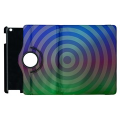 Blue Green Abstract Background Apple Ipad 3/4 Flip 360 Case by Nexatart