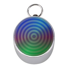 Blue Green Abstract Background Mini Silver Compasses by Nexatart