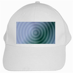 Teal Background Concentric White Cap by Nexatart