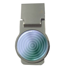Teal Background Concentric Money Clips (round)  by Nexatart