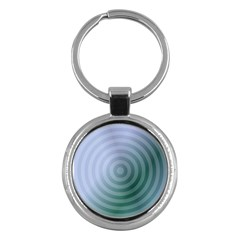Teal Background Concentric Key Chains (round)  by Nexatart
