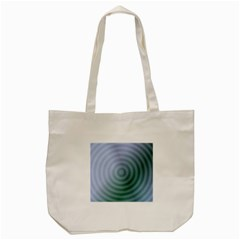 Teal Background Concentric Tote Bag (cream) by Nexatart