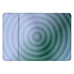 Teal Background Concentric Samsung Galaxy Tab 8 9  P7300 Flip Case by Nexatart