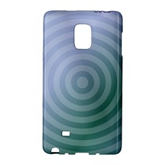 Teal Background Concentric Galaxy Note Edge by Nexatart