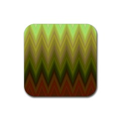 Zig Zag Chevron Classic Pattern Rubber Square Coaster (4 Pack)  by Nexatart
