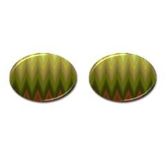 Zig Zag Chevron Classic Pattern Cufflinks (oval) by Nexatart