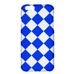 Blue White Diamonds Seamless Apple Iphone 6 Plus/6s Plus Hardshell Case by Nexatart
