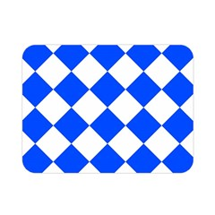 Blue White Diamonds Seamless Double Sided Flano Blanket (mini)  by Nexatart