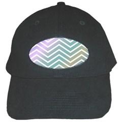 Zigzag Line Pattern Zig Zag Black Cap by Nexatart