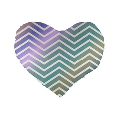 Zigzag Line Pattern Zig Zag Standard 16  Premium Flano Heart Shape Cushions by Nexatart