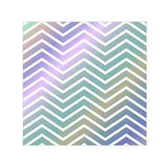 Zigzag Line Pattern Zig Zag Small Satin Scarf (square) by Nexatart