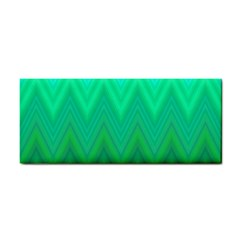 Green Zig Zag Chevron Classic Pattern Cosmetic Storage Cases by Nexatart