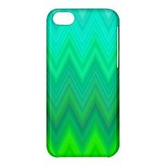 Green Zig Zag Chevron Classic Pattern Apple Iphone 5c Hardshell Case by Nexatart