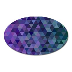 Triangle Tile Mosaic Pattern Oval Magnet by Nexatart