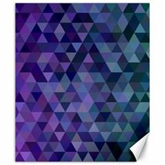 Triangle Tile Mosaic Pattern Canvas 20  X 24   by Nexatart