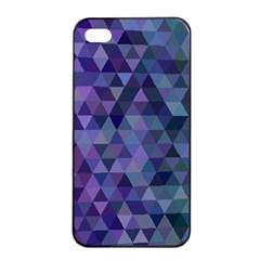 Triangle Tile Mosaic Pattern Apple Iphone 4/4s Seamless Case (black) by Nexatart