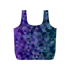 Triangle Tile Mosaic Pattern Full Print Recycle Bags (s)  by Nexatart