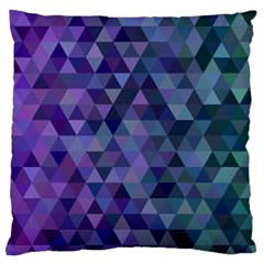 Triangle Tile Mosaic Pattern Large Flano Cushion Case (two Sides) by Nexatart