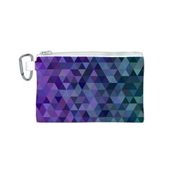 Triangle Tile Mosaic Pattern Canvas Cosmetic Bag (s) by Nexatart