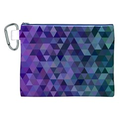 Triangle Tile Mosaic Pattern Canvas Cosmetic Bag (xxl) by Nexatart