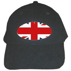 Uk Flag United Kingdom Black Cap by Nexatart